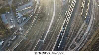 4k, 240fps, dépôt, trains, ferroviaire, 2160p., dépassement,...