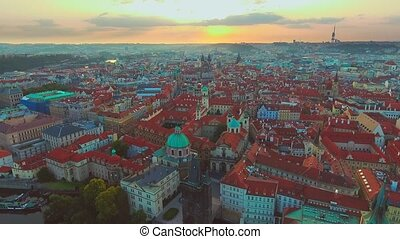 4K 3840x2160 Aerial sunrise video footage of world famous...