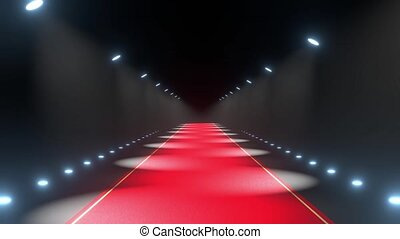 4k 3D red carpet and lights animation - event/ show concept