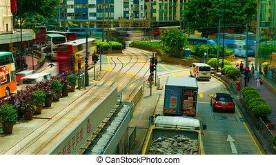 4k (4096x2304) timelapse, Hong Kong roads traffic