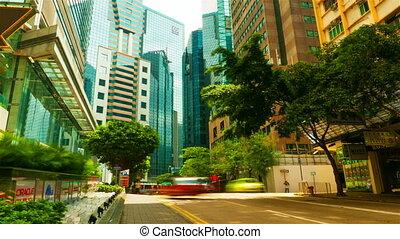 4k (4096x2304) timelapse in motion, Street traffic in Hong Kong