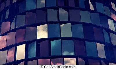 4K Abstract Architecture Background. 3D CGI animation....