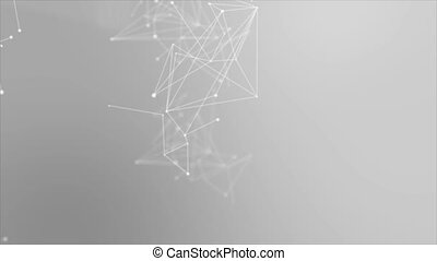 4K Abstract background Dot circle with connection for...