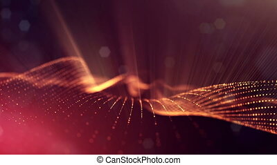 4k abstract background with smooth looped animation of...