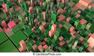 4K Abstract Cubes Looped in Beautiful Motion.