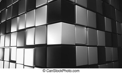 4K Abstract Cubic Background. Seamless Loop. 3D Animation