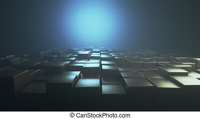 4K Abstract Cubic Background. Seamless loop