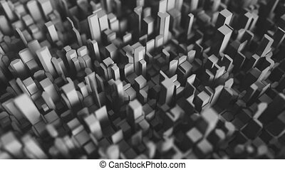 4K Abstract Cubic Background. Seamless Looping