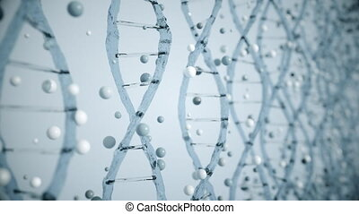 4K Abstract DNA Concept.
