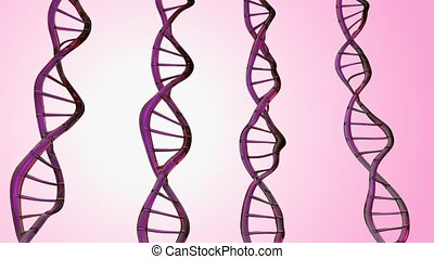 4K Abstract DNA double helix. Seamless loop.