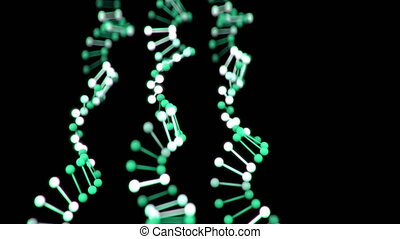 4K Abstract DNA Strands.