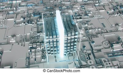 4K Abstract Futuristic Motherboard Circuit. Highly realistic...