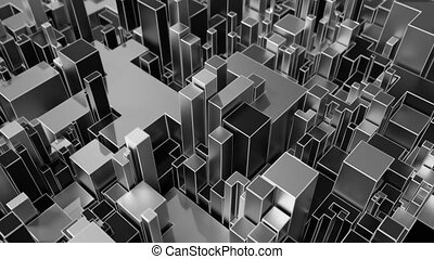 4K Abstract Geometric Background.