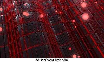4K Abstract Glass Technology Blocks. Seamless loop.