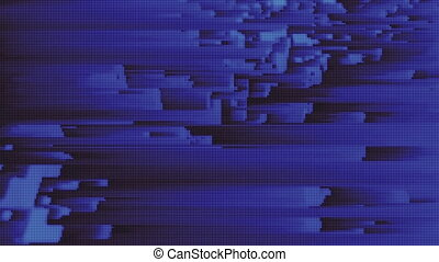 4K Abstract Glitch Technology Background. Seamless Loop.