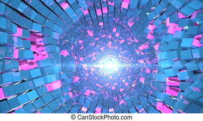 4K Abstract Glittering Tunnel.
