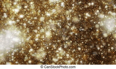 4K Abstract Gold Particles.