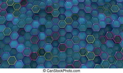 4K Abstract Honeycomb Grid. Technology background.