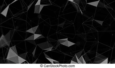 4k Abstract Loop background of molecular structures. Molecules or DNA strand, genetic engineering, neural network, innovation technology, scientific research. Technological, science and medicine