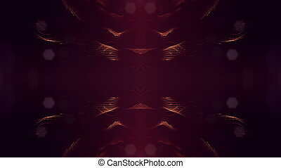 4k abstract looped backgrounds with luminous particles with depth of field. For holiday presentations, as a bright background with light effects. modern motion graphics background. Golden red 22
