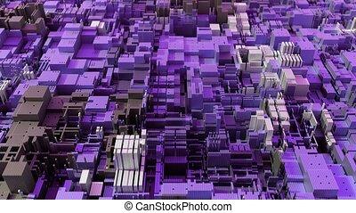 4K abstract modern CPU. Data mining, deep learning AI...