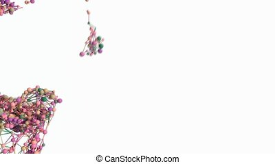 4K Abstract Molecules Mixing. Suitable for medical concepts,...
