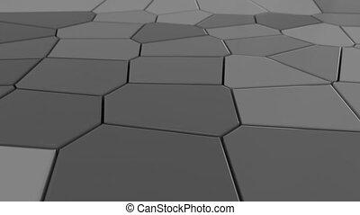 4K Abstract Mosaic Tiles. Seamless Loop
