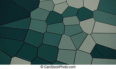 4K Abstract Mosaic Tiles. Seamless Loop
