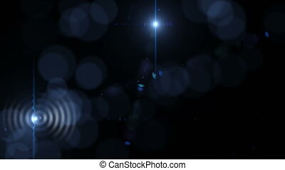 4K Abstract Motion Background With Lens Flares