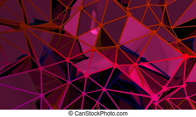 4K Abstract Neural Net. Seamless Loop