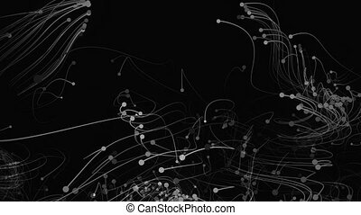 4K Abstract particles with trails. Seamless Loop.