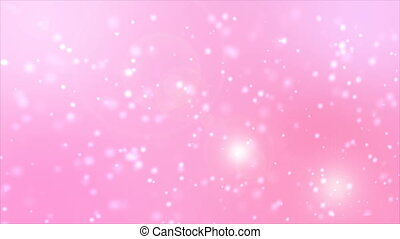 4K Abstract pink background with lighting effect and moving...