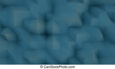 4K Abstract Polygon Background. Seamless Loop
