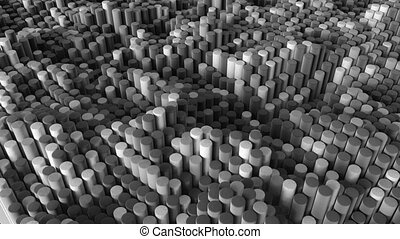 4K abstract rolls of textiles. Seamless loop.