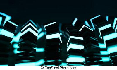 4K Abstract Technology Blocks. Seamless loop