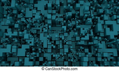 4K Abstract Technology Cube Background.