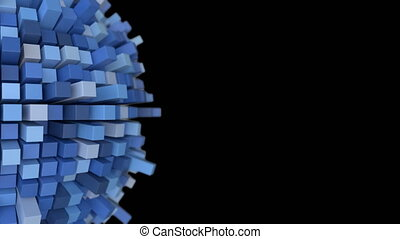 4K Abstract Technology Sphere. 3D Animation. Seamless Loop