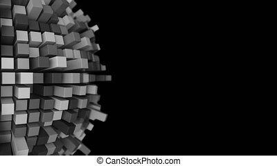 4K Abstract Technology Sphere.