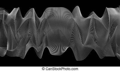 4K Abstract Undulating Geomtery. Seamless looping