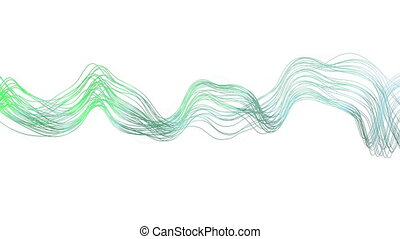 4K Abstract Wavy Lines. Seamless loop