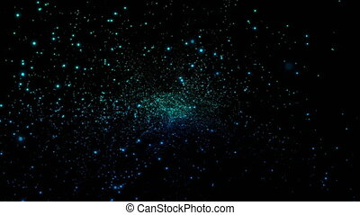 4K Abstractfly of small infinite star field of space in the...