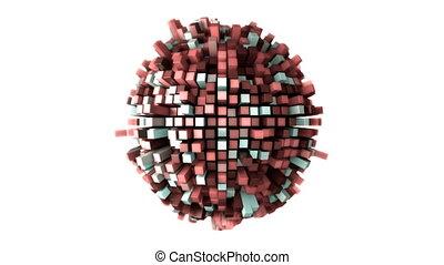 4k, abstrakt, technologie, sphere.