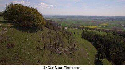 4K Aerial, Bavarian Landscapes, Germany - native footage,...