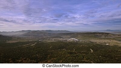 4K Aerial, Flight above forest in Andalusia, Spain - Shot is...
