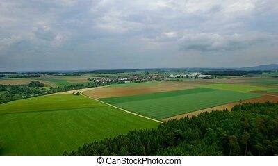 4K Aerial, Flying Over Bavarian Landscapes, Germany - Graded...