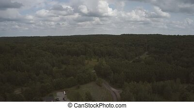 4K Aerial Hyperlapse of Ontario, Canada Cottage Country....