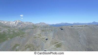 4K Aerial, Summit Of Monte Jafferau - 4K Aerial, Flying...