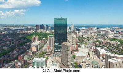 4K Aerial timelaspe of Boston