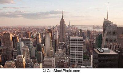 4K Aerial timelaspe of Manhattan