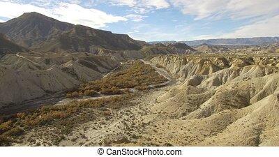 4k Aerial View in the desert